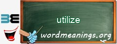 WordMeaning blackboard for utilize